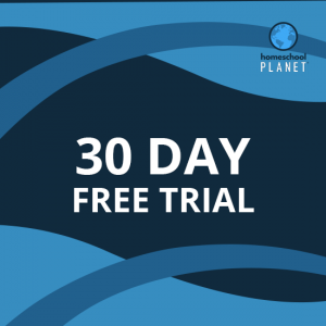 Homeschool Planet 30 day free trial button