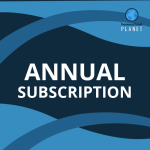 Homeschool Planet annual subscription button