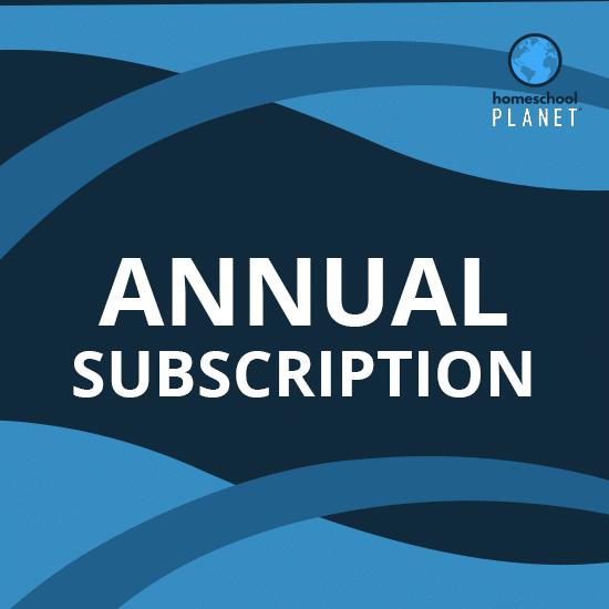 Homeschool Planet annual subscription button