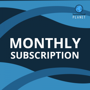 Homeschool Planet monthly subscription button