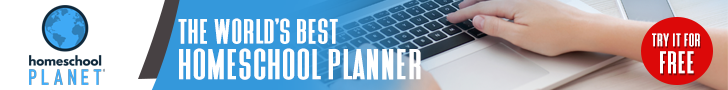 Homeschool Planet World's best planner button