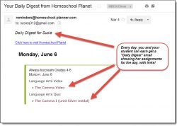 Homeschool Planet email digest for Always Ice Cream screenshot button