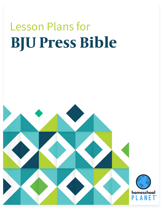 BJU Press Bible lesson plan button for homeschool planet