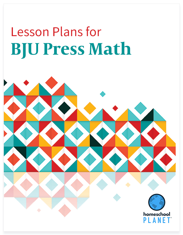 Homeschool Planner BJU Press math lesson plan button