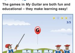 Games in My Guitar make learning easy