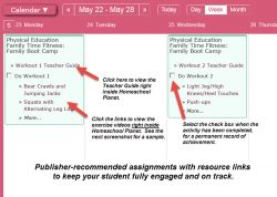 Homeschool Planet Lesson Plan Teacher Guide Weekly View screenshot button
