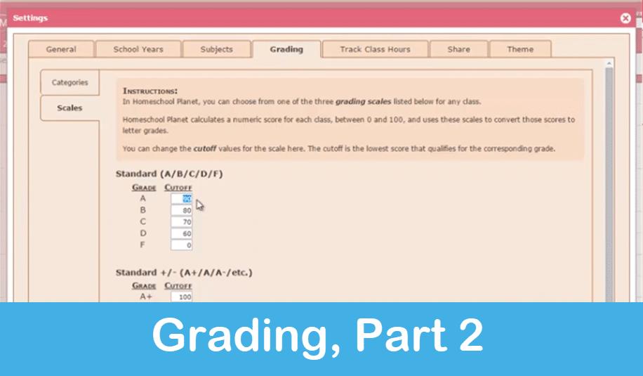 Homeschool Planet Lesson Plan Grading Part 2 screenshot button