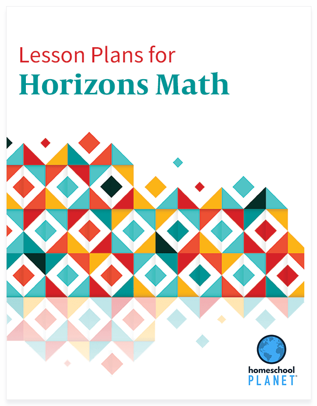 Homeschool Planner Horizons Math lesson plan button