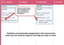 Homeschool Planet Lesson Plan Health Weekly View screenshot button