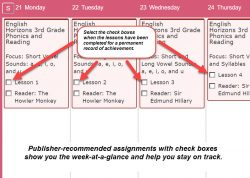 Homeschool Planet Lesson Plan Weekly View screenshot button