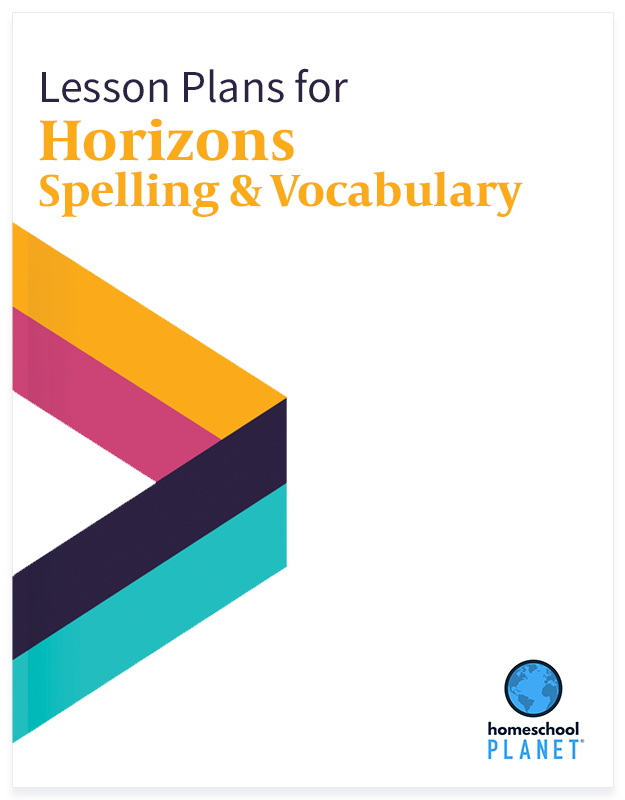 Horizons Spelling & Vocabulary lesson plan button for homeschool planet