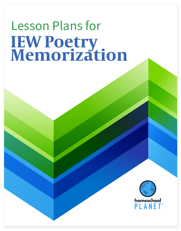 IEW Poetry Memorization lesson plan button for homeschool planet