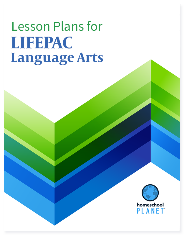LIFEPAC Language Arts lesson plan button for homeschool planet