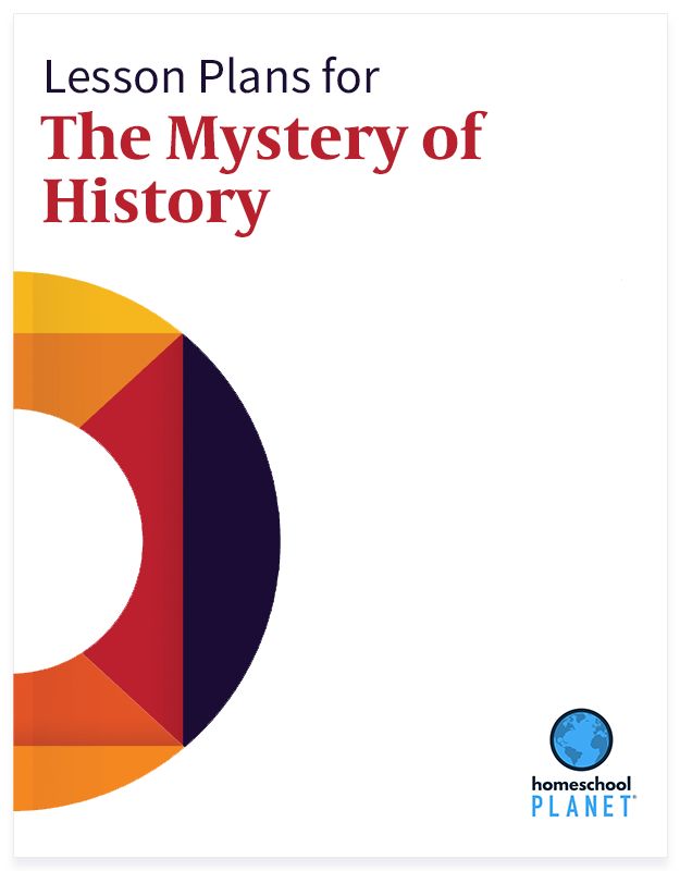 The Mystery of History lesson plan button for homeschool planet