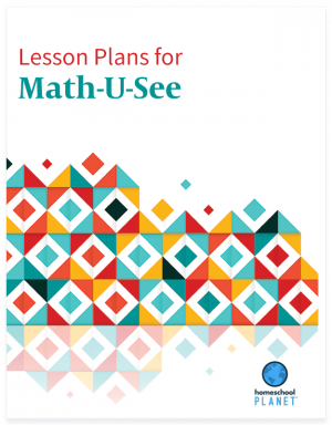 Homeschool Planner Math U See lesson plan button for