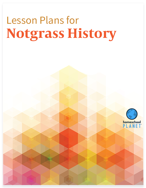 Homeschool Planet Notgrass History lesson plans button