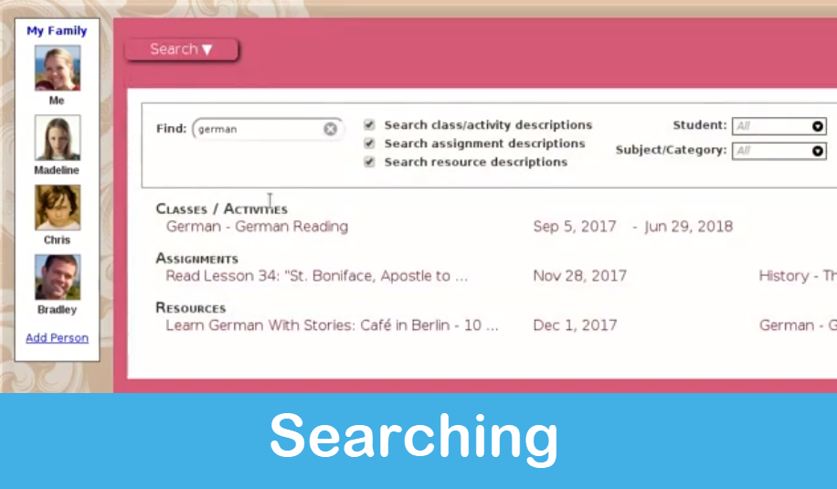 Homeschool Planet Lesson Plan Searching screenshot button