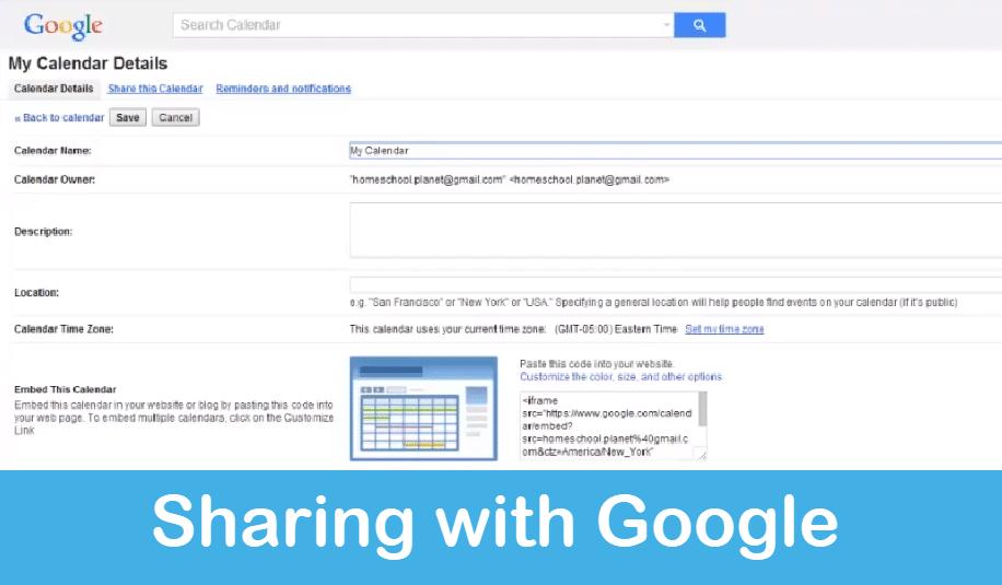 Homeschool Planet Lesson Plan Sharing with Google screenshot button