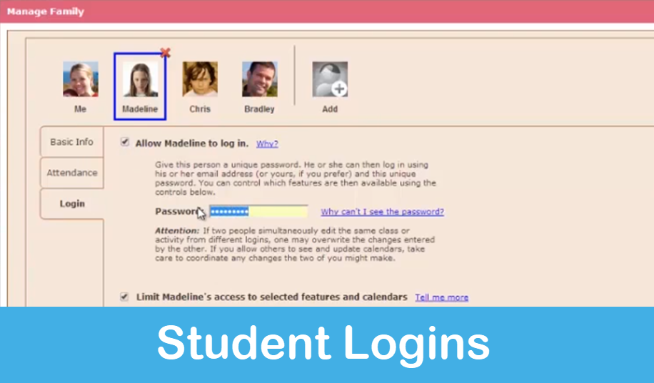 Homeschool Planet Lesson Plan Student Logins screenshot button