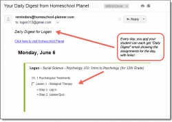 Homeschool Planet Study.com Electives Daily Digest button
