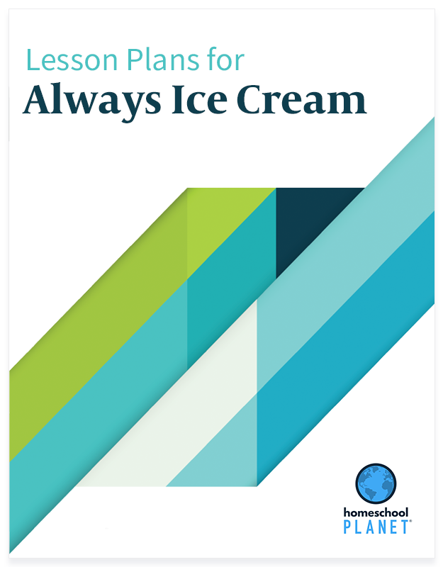 Always Icecream lesson plan button for homeschool planet