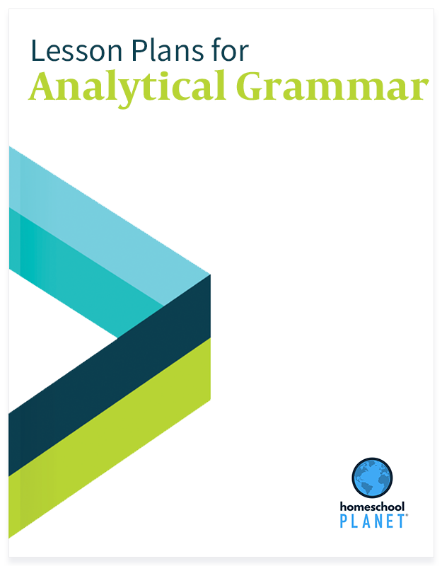 Analytical Grammar lesson plan button for homeschool planet