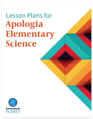 Apologia Elementary Science lesson plan button for homeschool planet