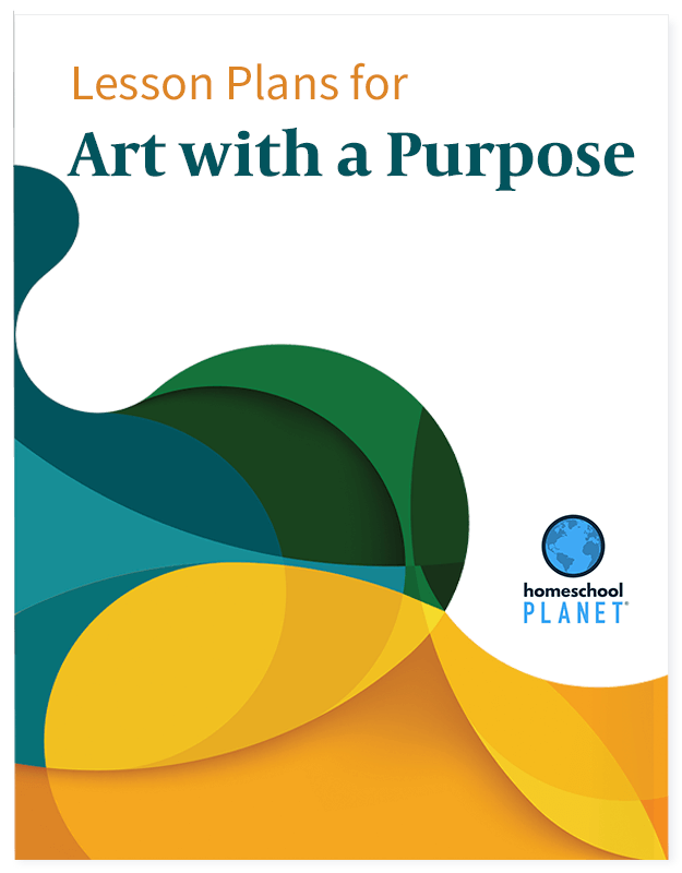 Art with a Purpose lesson plan button for homeschool planet