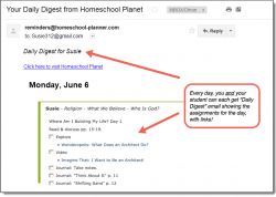Homeschool Planet Who Is God? email daily digest screenshot button