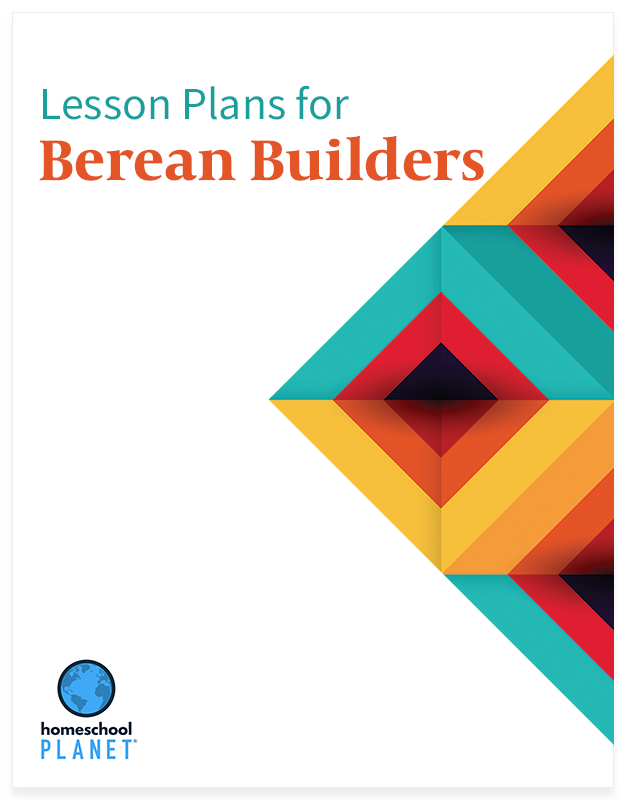 Berean Builders lesson plan button for homeschool planet
