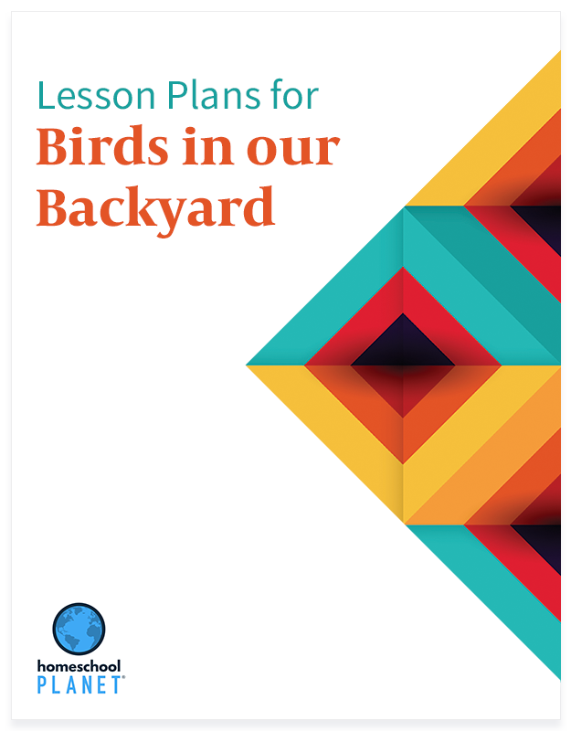 Birds in Our Back Yard lesson plan button for homeschool planet