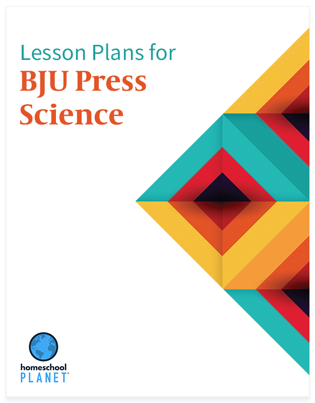 BJU Press Science lesson plan button for homeschool planet