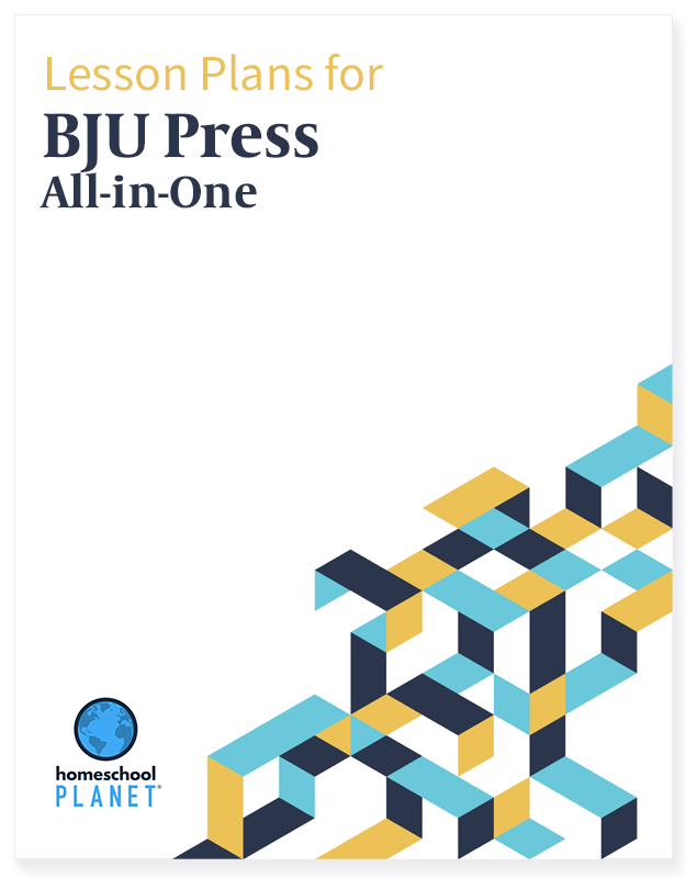 BJU Press All In One Lesson Plan Family lesson plan button for homeschool planet