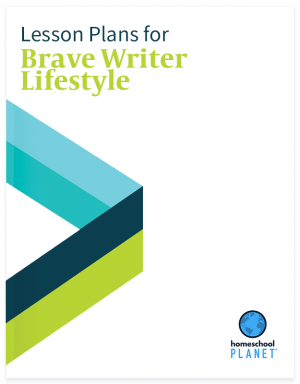 Brave Writer Lifestyle lesson plan button for homeschool planet