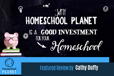 Homeschool Planet A Good Investment review by Cathy Duffy button