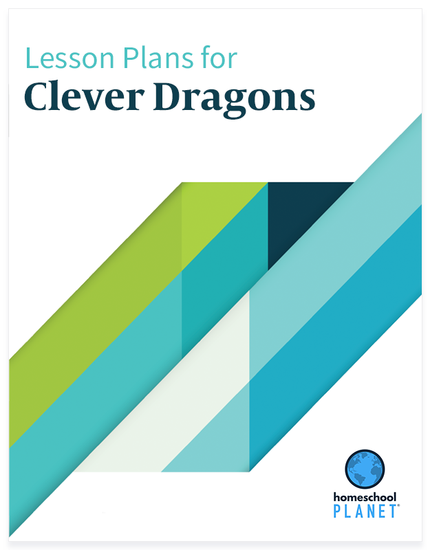 Clever Dragons lesson plan button for homeschool planet