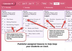 Homeschool Planet Lesson Plan eMedia Piano & Keyboard Method Weekly View screenshot button