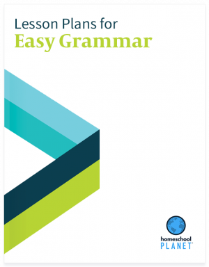Easy Grammar lesson plan button for homeschool planet