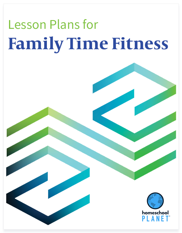 Family Time Fitness lesson plan button for homeschool planet