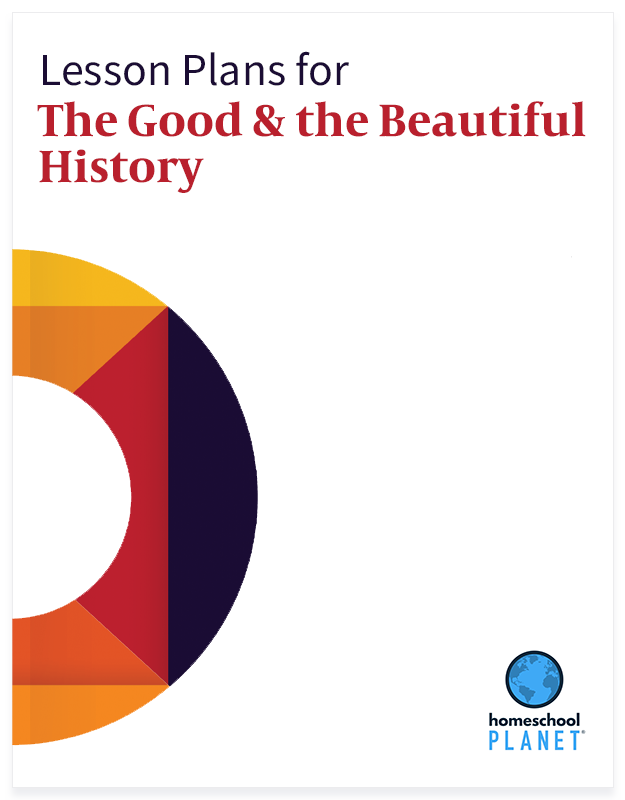 The Good and The Beautiful History lesson plan button for homeschool planet
