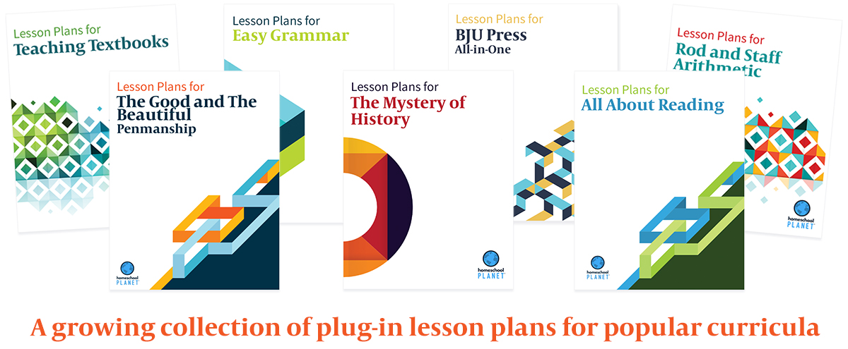 Homeschool Planet growing collection of Lesson Plans button
