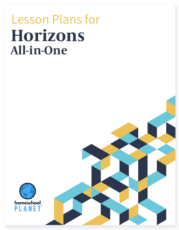 Horizons All-In-One lesson plan button for homeschool planet
