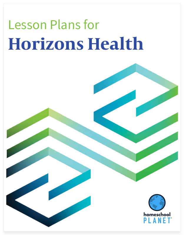 Horizons Health lesson plan button for homeschool planet