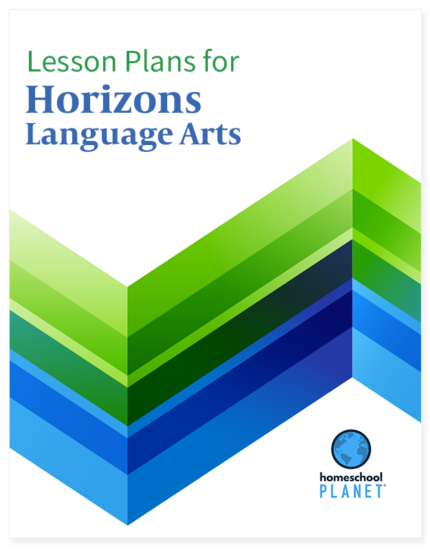 Horizons Language Arts lesson plan button for homeschool planet