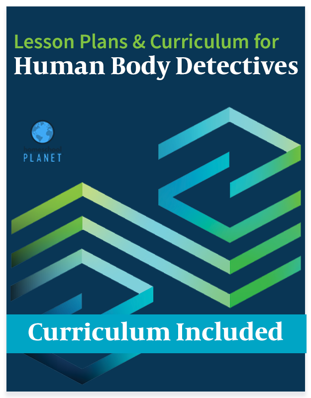 Homeschool Planet Human Body Detectives lesson plans and curriculum button