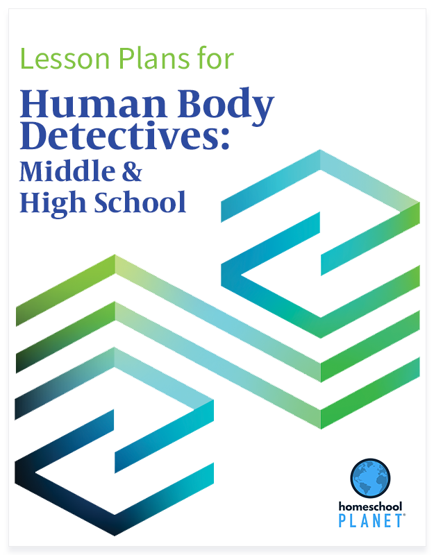 Human Body Detectives: Middle & High School lesson plan button for homeschool planet