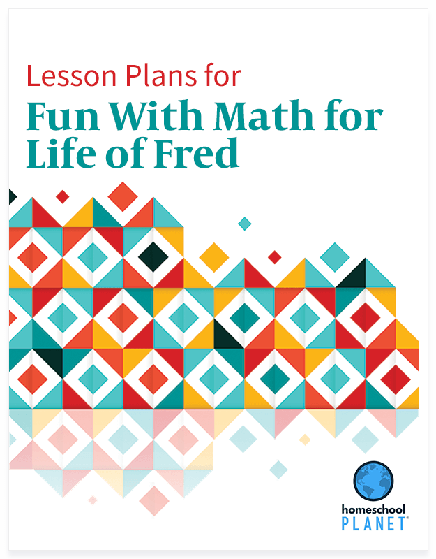 Homeschool Planner Fun With Math for Life of Fred lesson plan button