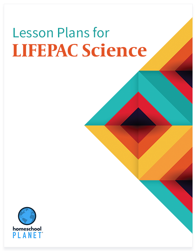 LIFEPAC Science lesson plan button for homeschool planet