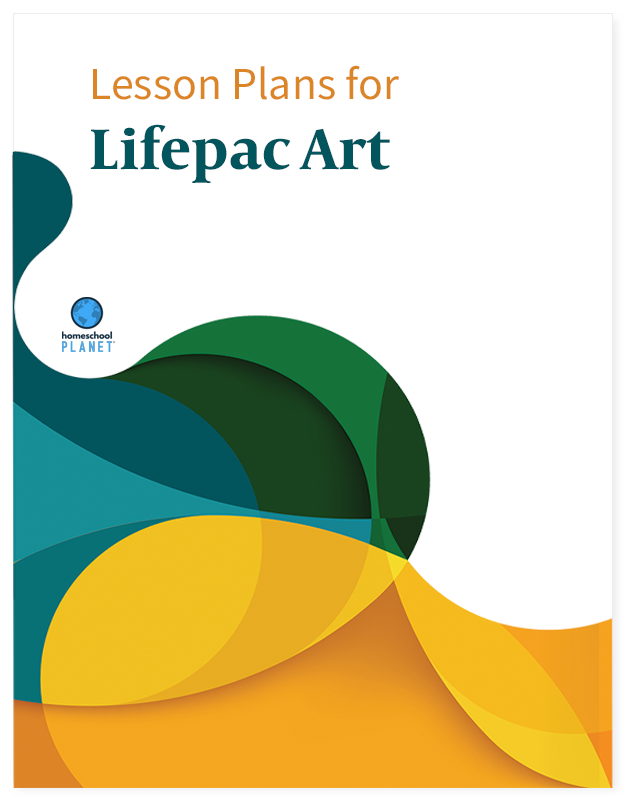 Homeschool Planner Lifepac Art lesson plan button