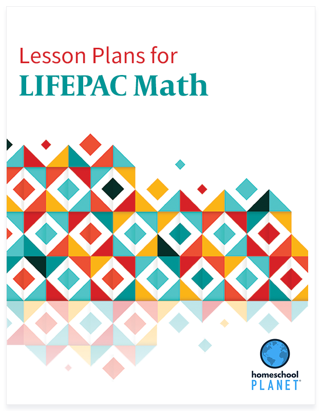 LIFEPAC Math lesson plan button for homeschool planet